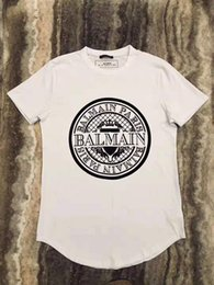 Новые горячие футболки Balmain Designer Balmain Paris Черно-белые мужские футболки Модные футболки Топ с коротким рукавом Polo Размер S-XXL на Распродаже