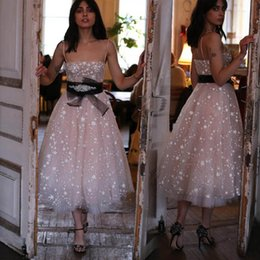 Pictures Cotton Gowns Australia - Sequined 2019 Prom Dress Lace Knee Length Cocktail Dresses Organza Lace Applique Beaded Short Party Evening Gowns