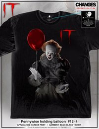 Balloon t shirt online shopping - It Pennywise Holding Balloon Clown Creepy Adult Mens T Tee Shirt