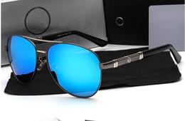 $enCountryForm.capitalKeyWord Australia - Designer Brand New Gun Blue High Quality Men Women Retro UV Protection Sunglasses Unisex Eyewear Metal & Alloy Frame Glasses Polarized UV400
