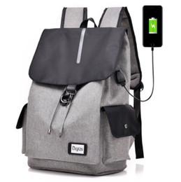 China Cross-border new Korean version of the backpack usb waterproof computer backpack college students flip shoulder bag men wholesale suppliers