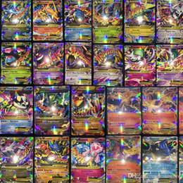 100 pezzi Tutti Mega Shiny Nessuna ripetizione Ex Cards 80 EX Ordinary Cards + 20 MEGA Cards Japan Charizard Cartes in Offerta