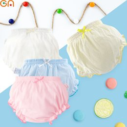 Wholesale Infant Underwear Australia - Kids 100% Cotton Underwear Panties Girls,Baby,Infant,fashion Solid color Bow lace Underpants For Children Cute shorts gifts CN