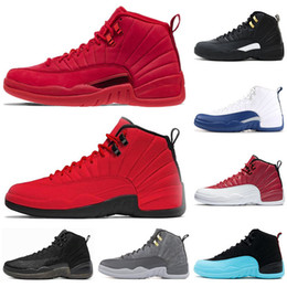 gym hook Canada - New arrival 12 12s men Basketball Shoes Sneakers black white PLAYOFF THE MASTER Gym red gamma blue 12s mens sports shoes 7-13