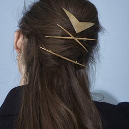 $enCountryForm.capitalKeyWord Australia - Europe Fashion Jewelry Geometric Barrette One-clip Cross 3pcs set Hairpin Hair Clip Bobby Pin Lady Barrettes S603