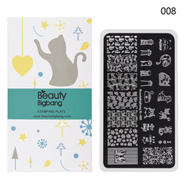$enCountryForm.capitalKeyWord Australia - BeautyBigBang 6*12cm Rectangle Nail Stamping Plates Cut Animal Style Geometry Nail Art Stamp Template Image Plate Stencils