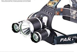 miners headlamps UK - Led New Headlamp  Miner S Lamp Fixed Focus Aluminum Fishing Lights Rechargeable Long Range Flashlight T6 -Kt -006 3t6 Headlight Set (2 Elect