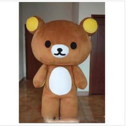 Brown Bear rilakkuma online shopping - 0Halloween Japan Rilakkuma Mascot Costume Top Quality Adult Size Cartoon Lazy Brown bear Christmas Carnival Party Costumes
