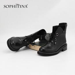 $enCountryForm.capitalKeyWord Australia - SOPHITINA 2019 New Fashion Individual Women Boots High-quality Cow Leather Basic Martin Boots Warm Soft Insole Ankle ML21