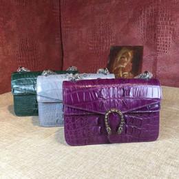 Crocodile Hand Bags Australia - Really Crocodile Skin Fashion New Pattern Concise Joker Bacchus Small Bag Can Hand Lading Shoulder Oblique Satchel genuine leather handbags