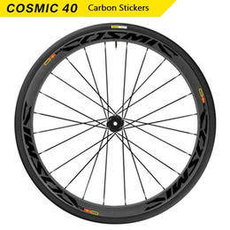 Cycling Road Rims Australia - Wheels Rim Stickers for Road Bike Bicycle MAVIC COSMIC Carbon CCU 40 Cycling Decals Water Proof #288047