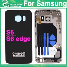 $enCountryForm.capitalKeyWord Australia - New S6 Full Housing Cover S6 edge Battery Cover For Samsung Galaxy G920 & G925 Back Cover + Middle