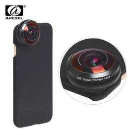 Wholesale Apexel Universal Fisheye Lens Degree Super Fish Eye x Full Frame Wide Angle Lens For Iphone X s Plus Xiaomi Redmi J190704