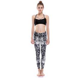 Girls Rabbit Leggings Australia - Girl Yoga Leggings Rabbit Vintage 3D Graphic Full Printed Comfortable Pencil Pants Woman Stretchy Jeggings Lady Runner Trousers (Yyoga0094)