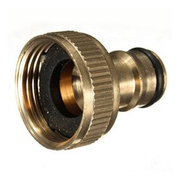 Watering Quick Connector Australia - ing Irrigation Water Connectors 1pc 3 4 Inch Brass Threaded Garden Hose Water Sprayer Tap Fittings Pipe Quick Garden Water Connector Brass