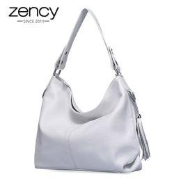$enCountryForm.capitalKeyWord Australia - 2019 New Fashion Soft Real Genuine Leather Tassel Women Handbag Elegant Ladies Hobo Shoulder Bag Messenger Purse Satchel White Y19061301