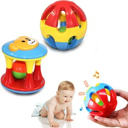 baby grasping rattles Australia - Toddler Toys Rattles Mobiles 2pcs lot Baby Toy Fun Little Loud Jingle Ball Ring Develop Baby Intelligence Training Grasping Ability Ratt...