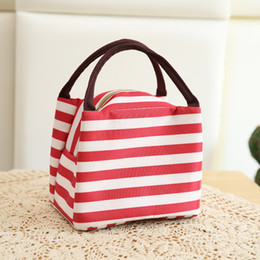 $enCountryForm.capitalKeyWord Australia - Colorful Strip Lunch Bags Multi-function picnic Isothermic Bags Ice Packs lunch boxes storage bag 6 styles OEM Free shipping