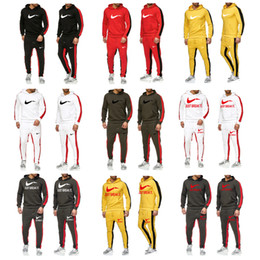 Wholesale suit sale mens for sale - Group buy Autumn Winter Brand Print Tracksuit Men Woman Casual Sportswear Suits Mens Two Piece Sets Pullover Hoodies Pants male Hot Sale