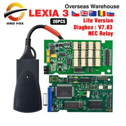 code lexia 2019 - 2018 Professional diagnostic tool lexia 3 for citroen lexia3 pp2000 Interface with New Diagbox V7.83 Lexia 20pcs lot