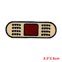 Band Clothes For Australia - Patch embroidered iron on cloth badges kawaii biker band aid bandage applique For Clothes Girls Boys Iron On Patches