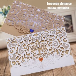 Wholesale Hot Invitation Card Hollow European Style Exquisite for Wedding Business Birthday Party FQ ing