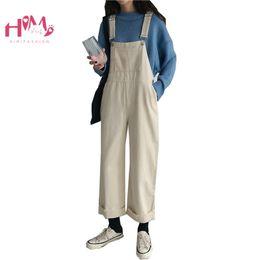 a0d42154161 Womens Harajuku Black Denim Jumpsuit Overalls Korean Loose Casual Rolled Up  Jean Long Pants Female Vintage Wide Leg Rompers