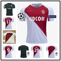 82719c05e new 2018 2019 AS Monaco Jersey Men Ligue 1 Soccer 9 FALCAO 10 JOVETIC 17  GOLOVIN 24 RAGGI 1 SUBASIC 18 19 Football Shirt Kits Uniform