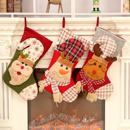 $enCountryForm.capitalKeyWord NZ - Hot Christmas Decorations Christmas Candy Bag Santa Claus Snowman Socks Christmas Socks Gift Bag Foreign Trade