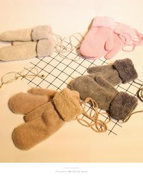 Dark Cycles NZ - Korean version of gloves female winter lovers lovely refers to the winter warm cycling thick wool gloves with fleece students