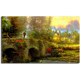 $enCountryForm.capitalKeyWord NZ - Cobblestone Evening By Thomas Kinkade Poster Canvas Painting Oil Framed Wall Art Print Pictures For Bedroom Modern Home Decoracion Framework