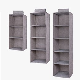 clothes hanging shelf Canada - Drawer Shelves Hanging Wardrobe Organizer Storage Box Shoes Clothes For Bedroom C66
