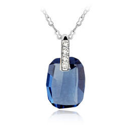 $enCountryForm.capitalKeyWord Australia - Blue Crystal from Swarovski Women Necklace Pendants Fashion Jewelry Elements High Quality Party Wedding Accessories Best Christmas Gift