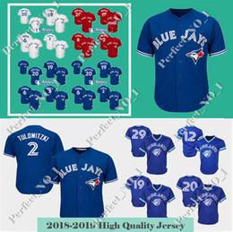 8e83ce4f0 Toronto Blue Jays 2 20 Josh Donaldson 19 Jose Bautista Baseball Jerseys 6 Marcus  Stroman 11 Kevin Pilar 12 Alomar 29 Carter Jersey