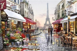$enCountryForm.capitalKeyWord NZ - Romantic Paris Street 16x20 inches DIY Paint On Canvas drawing By Numbers Kits Art Acrylic Oil Painting Frame For Adult Teen