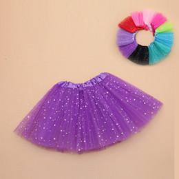 $enCountryForm.capitalKeyWord Australia - Girls skirt tulle fabric stars print mini tutu skirt baby style children dance skirt kid party clothing baby rokjes