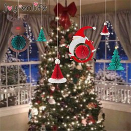 $enCountryForm.capitalKeyWord NZ - Christmas Kerst Hanging Ornaments Xmas tree Decor Santa Claus Snowman Paper Honeycomb Balls New Year 2020 Navidad Decorations