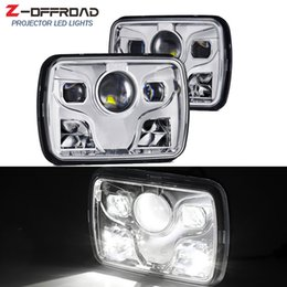 HeadligHt cHerokee online shopping - 5x7inch LED Square Truck Offroad Headlights DOT x7 quot LED Projector Headlamps for Jeep Cherokee XJ Wrangler YJ