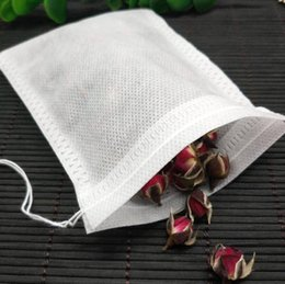 scent packs Australia - 300pcs 5.5 x 7CM pack Teabags Fabric Empty Scented Tea Bags With String Heal Seal Filter for Loose Tea Bolsas