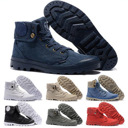 $enCountryForm.capitalKeyWord NZ - New Arrive PALLADIUM Men Women Ankle Boots designer mens Army Green all white Gray blue red Canvas Sneakers Casual Man Trainer Sneaker Shoes