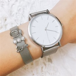 chain wrap watches NZ - Vinnie Design 2-3pcs Love Heart Slide Charms Stainless Steel Mesh Keeper Bracelets with Wrap Watch Set for Women Jewelry
