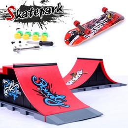 $enCountryForm.capitalKeyWord Australia - Fingerboard Finger Skate Board Mini Skatepark Professional Ramp Finger Skateboard Children Assembled Alloy Track Scooter Toy With Color Box