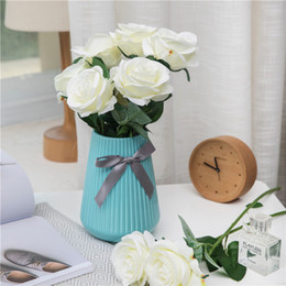 $enCountryForm.capitalKeyWord Australia - single branch real touch rose silk artificial flower wedding photography props wreath decorative rose fake flower branch