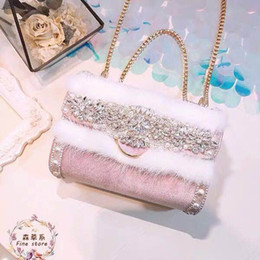 $enCountryForm.capitalKeyWord Australia - New Chaohan Baitao single-shoulder chain bag with sweet personality and diamond-inlaid pearl hair for women in 2019