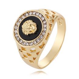 $enCountryForm.capitalKeyWord Australia - 2019 new designer rings 18K Gold Lion head mens rings opening can adjust mens ring jewelry YD0159