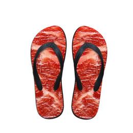 $enCountryForm.capitalKeyWord Australia - Customized 3D Meat Design Women Casual Flip Flops Summer Slip-on House Slippers for Woman Ladies Flats Flipflops Beach Shoes