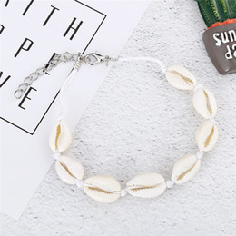 Woven anklets online shopping - Vsco Puka Shell Anklets For Vsco Girl Woven Natural Shells Hawaiian Style Casual Hand Ornament Beach Seashell Anklets