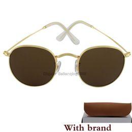 Sun Glasses Black Australia - Classic Round Sunglasses For Men Women Txrppr designer Black frame green glass lens Vintage sun glasses Sport glasses With box