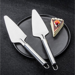 $enCountryForm.capitalKeyWord Australia - Simple Stainless Steel Pizza Spatula Cake Spatula Steak Pancake Grill Plate Round Tube Handle DHL Free