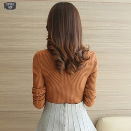 Fashion belts applique online shopping - Jumper Sweater Fashion Autumn Winter Black Tops Women Knitted Pullovers Long Sleeve Turtleneck Pull Femme Clothing